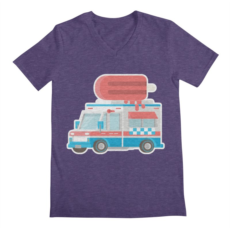 Le Truck Men's Regular V-Neck by awesombroso's Artist Shop