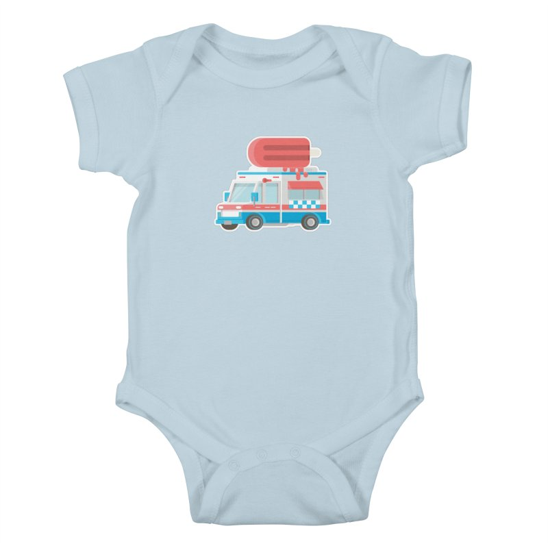 Le Truck Kids Baby Bodysuit by awesombroso's Artist Shop