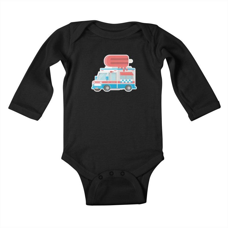 Le Truck Kids Baby Longsleeve Bodysuit by awesombroso's Artist Shop