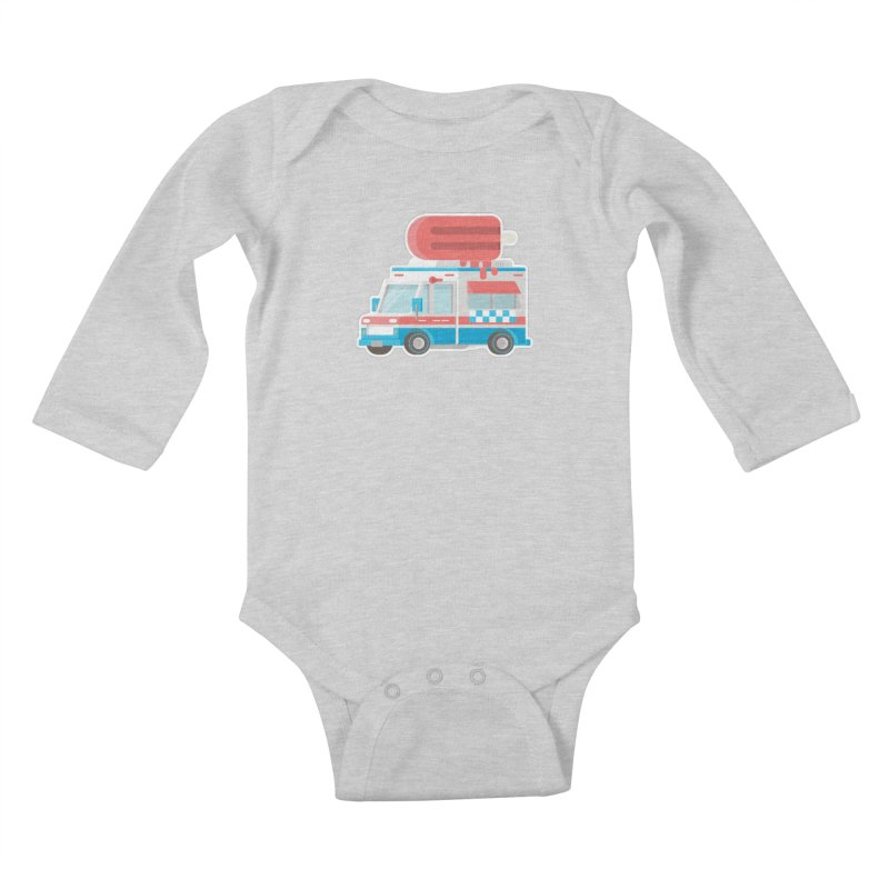 Le Truck Kids Baby Longsleeve Bodysuit by awesombroso's Artist Shop