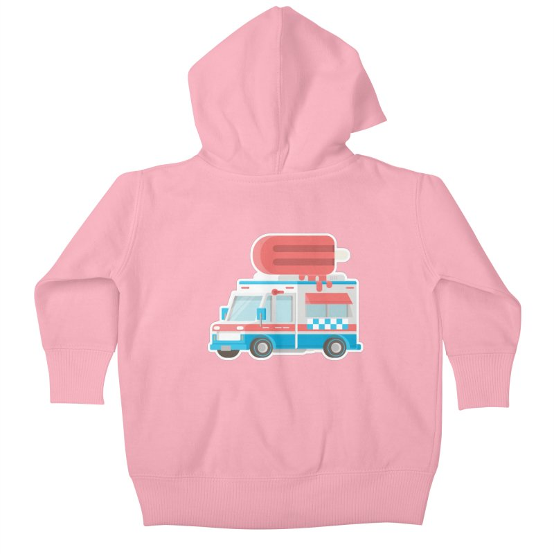 Le Truck Kids Baby Zip-Up Hoody by awesombroso's Artist Shop