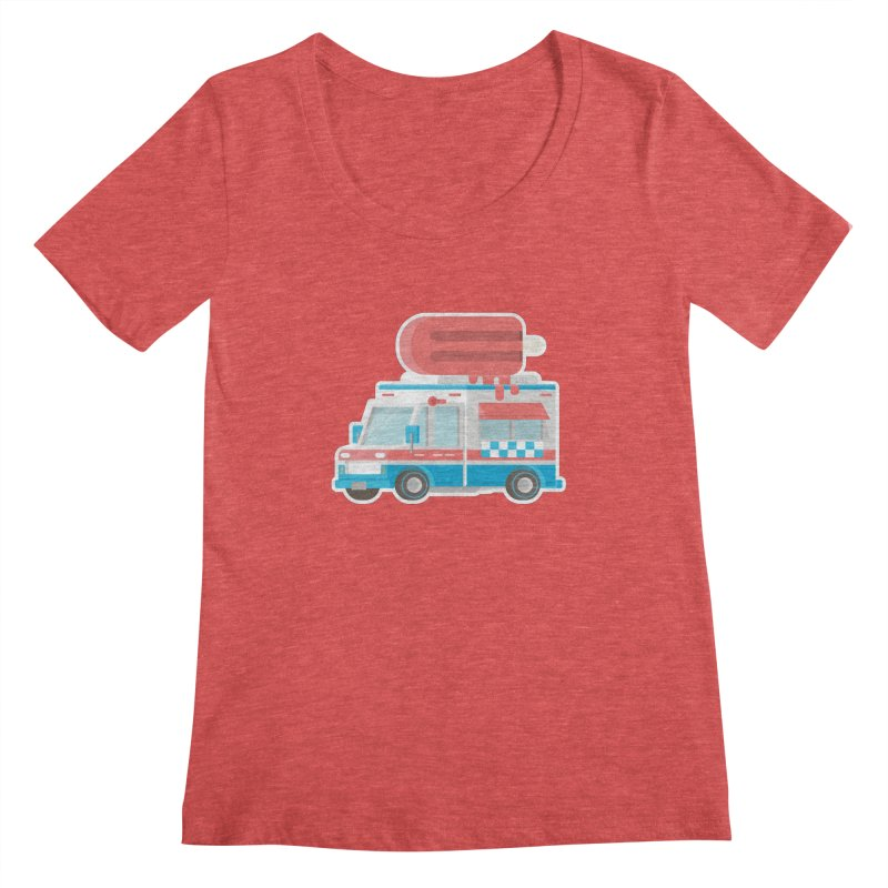 Le Truck Women's Scoopneck by awesombroso's Artist Shop