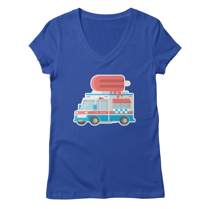 Le Truck Women's Regular V-Neck by awesombroso's Artist Shop