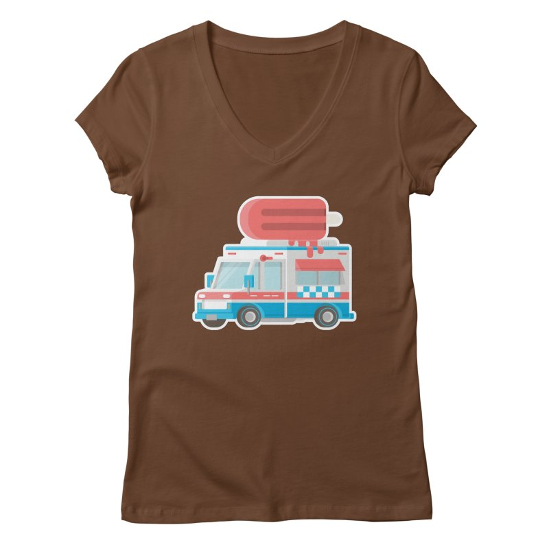 Le Truck Women's V-Neck by awesombroso's Artist Shop