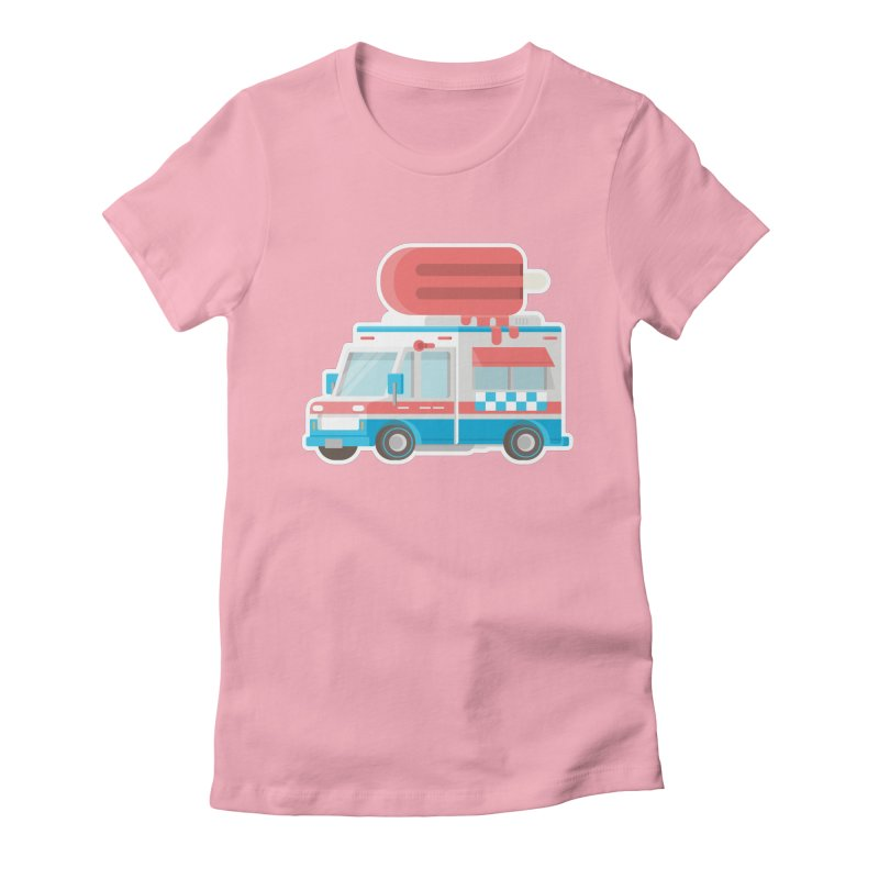 Le Truck Women's Fitted T-Shirt by awesombroso's Artist Shop