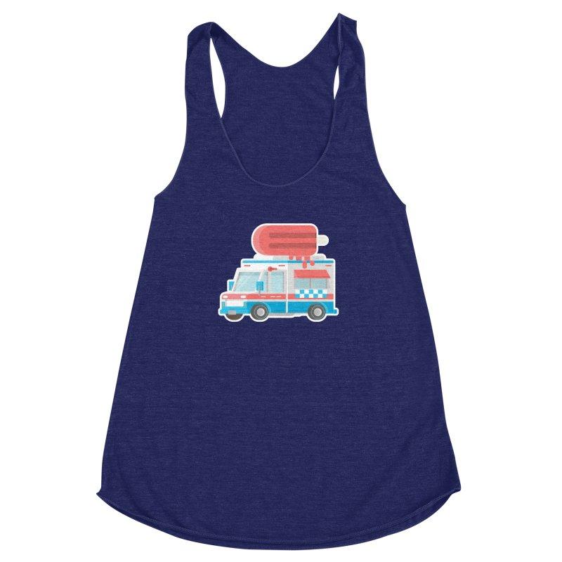 Le Truck Women's Racerback Triblend Tank by awesombroso's Artist Shop