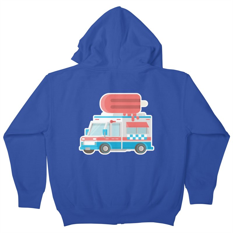 Le Truck Kids Zip-Up Hoody by awesombroso's Artist Shop