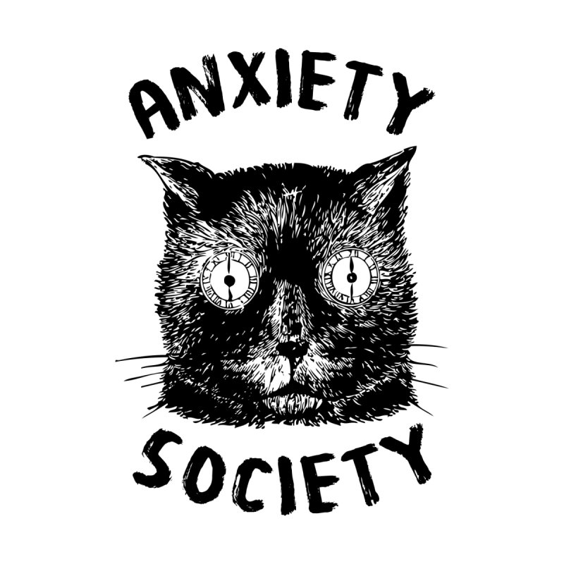 Anxiety Society Men's T-Shirt by Victory Screech Labs