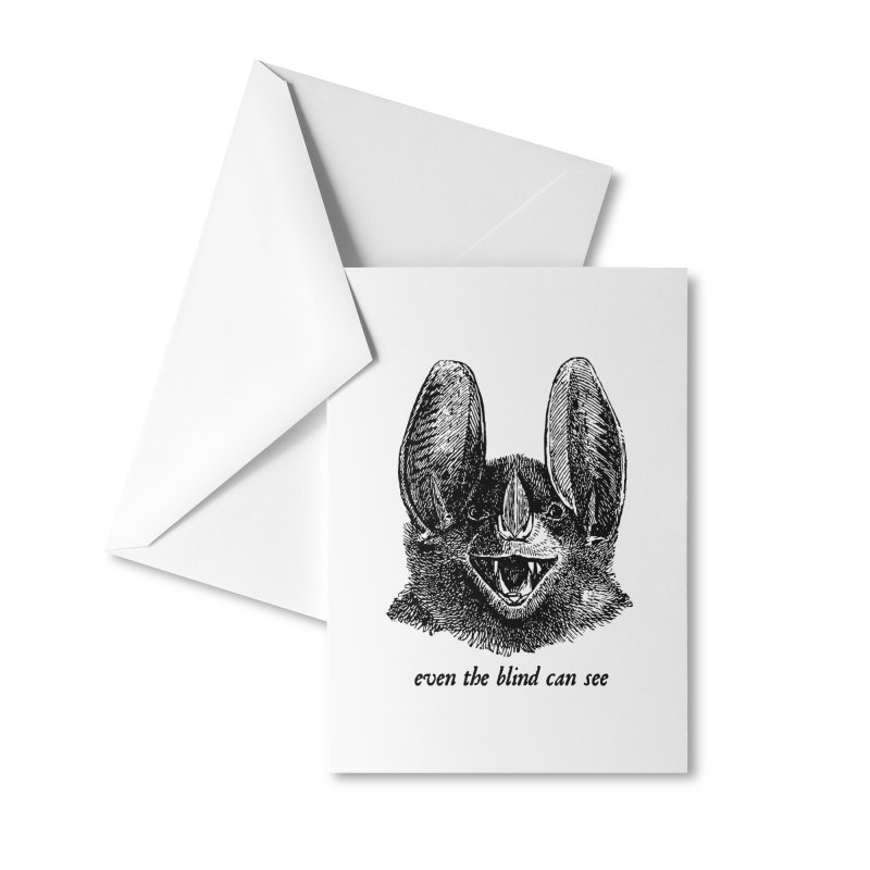 Even the Blind Can See Accessories Greeting Card by Victory Screech Labs