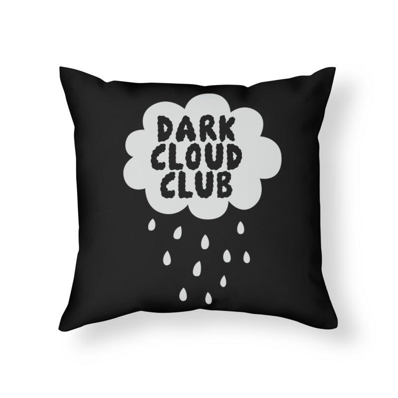 Dark Cloud Club V2 Home Throw Pillow by Victory Screech Labs