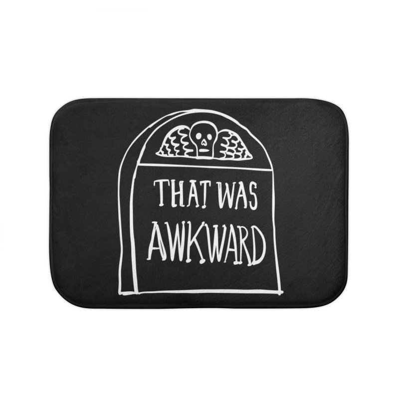 That Was Awkward V2 Home Bath Mat by Victory Screech Labs