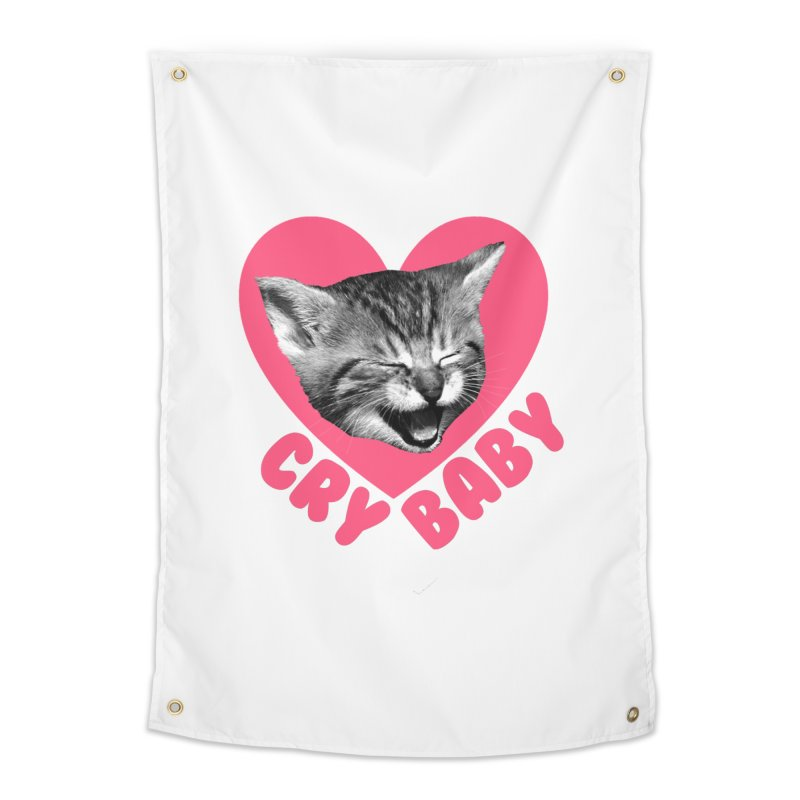Cry Baby Home Tapestry by Victory Screech Labs