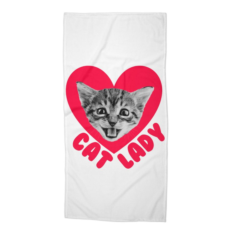 Cat Lady Accessories Beach Towel by Victory Screech Labs