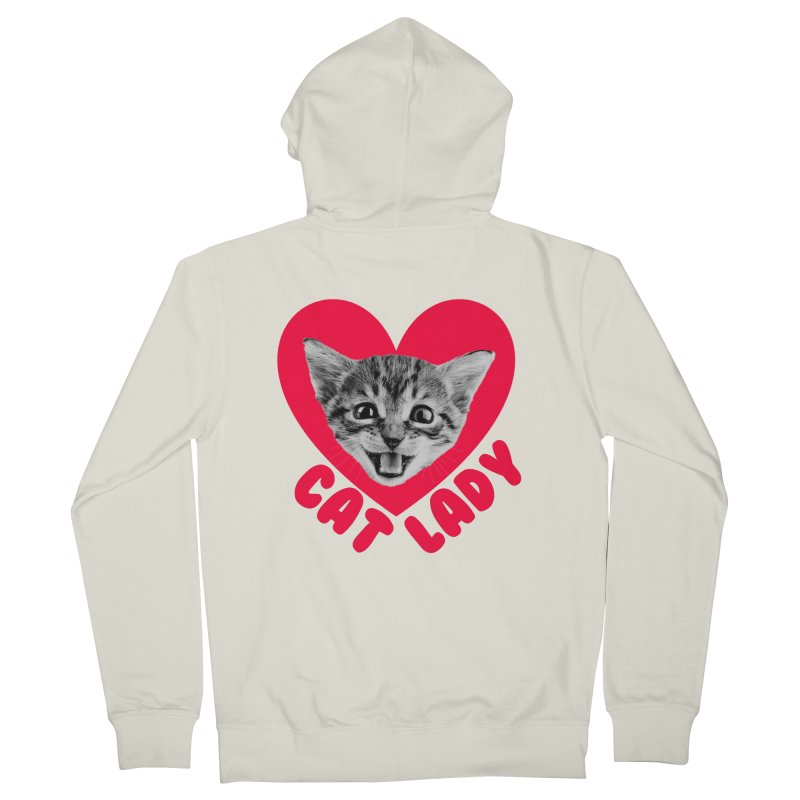 Cat Lady Women's Zip-Up Hoody by Victory Screech Labs