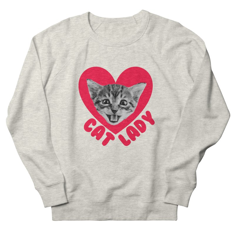 Cat Lady Men's Sweatshirt by Victory Screech Labs