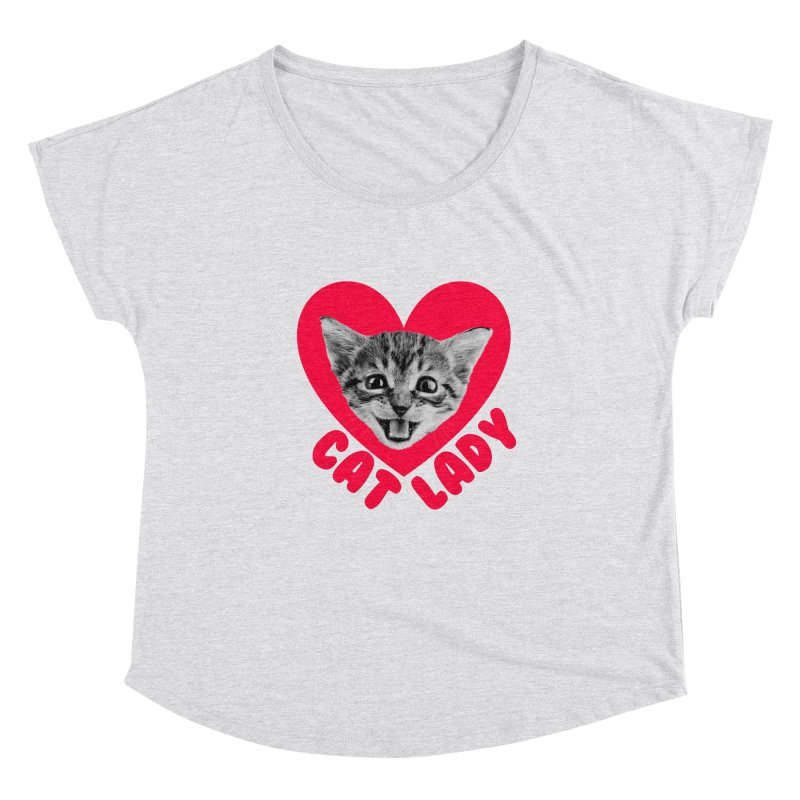 Cat Lady Women's Scoop Neck by Victory Screech Labs