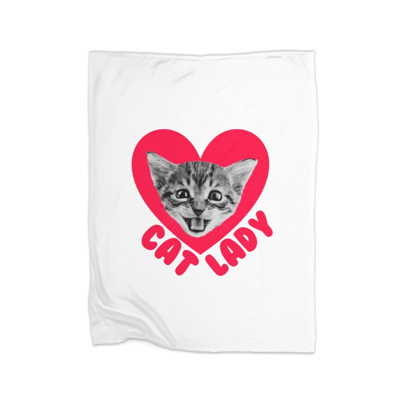 Cat Lady Home Blanket by Victory Screech Labs