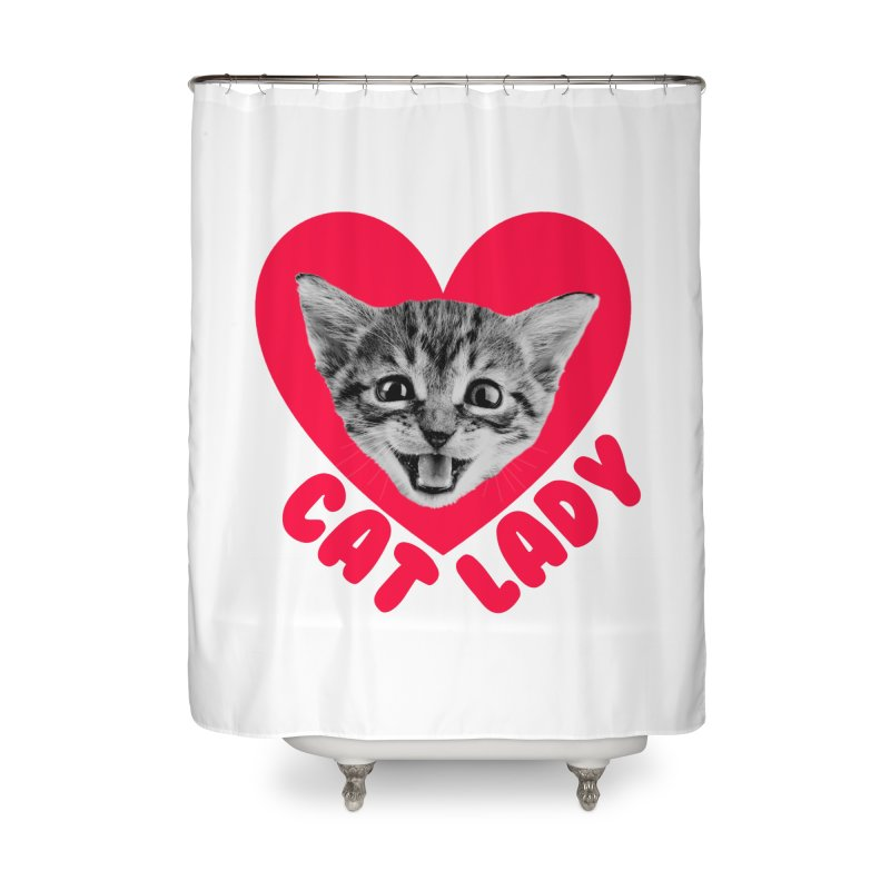 Cat Lady Home Shower Curtain by Victory Screech Labs