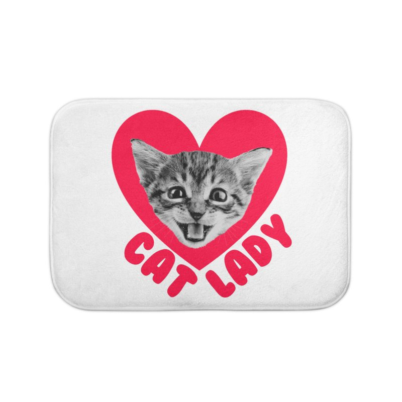 Cat Lady Home Bath Mat by Victory Screech Labs