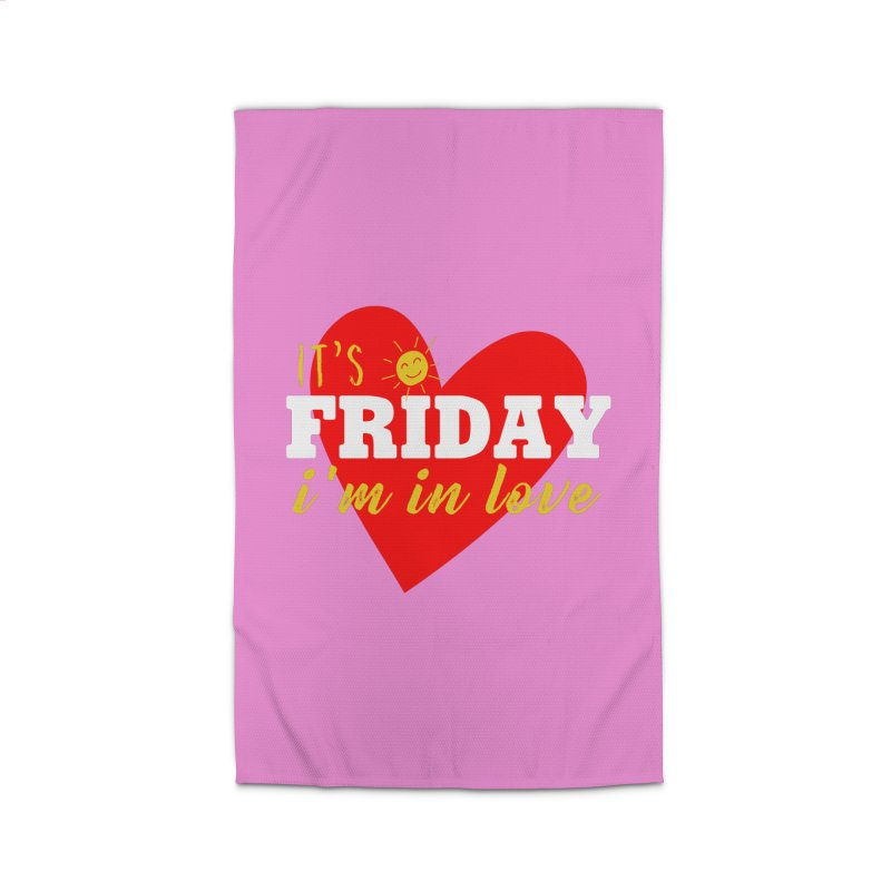 It's Friday, I'm in Love Home Rug by Victory Screech Labs