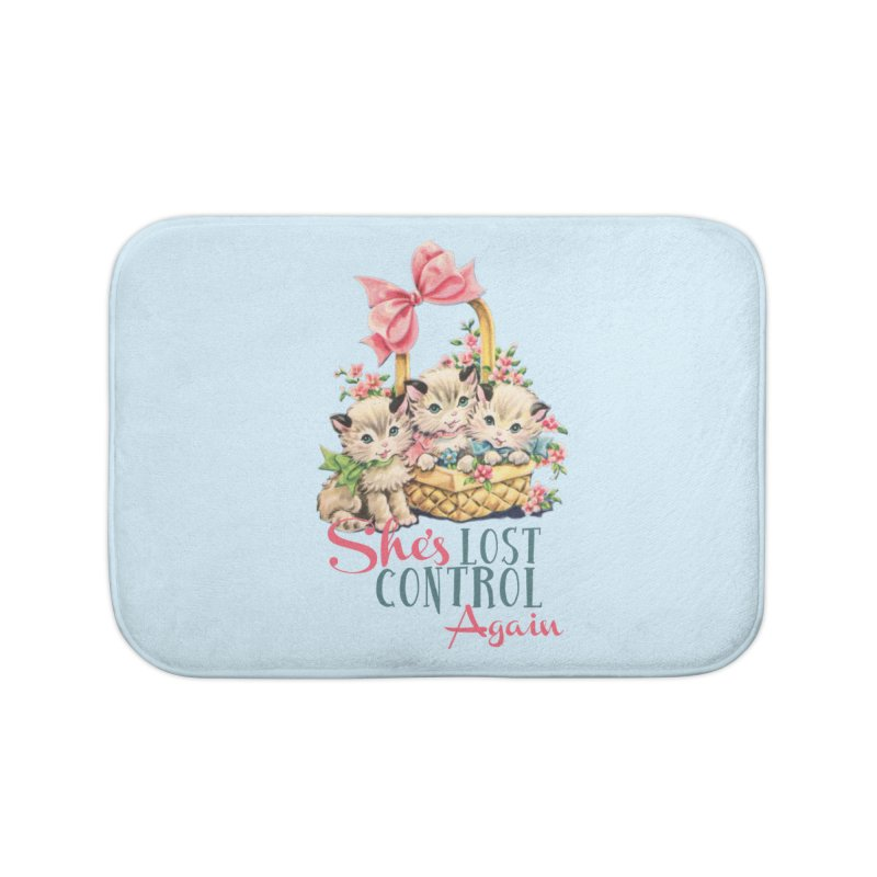 She's Lost Control Again Home Bath Mat by Victory Screech Labs