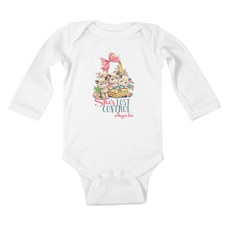 She's Lost Control Again Kids Baby Longsleeve Bodysuit by Victory Screech Labs