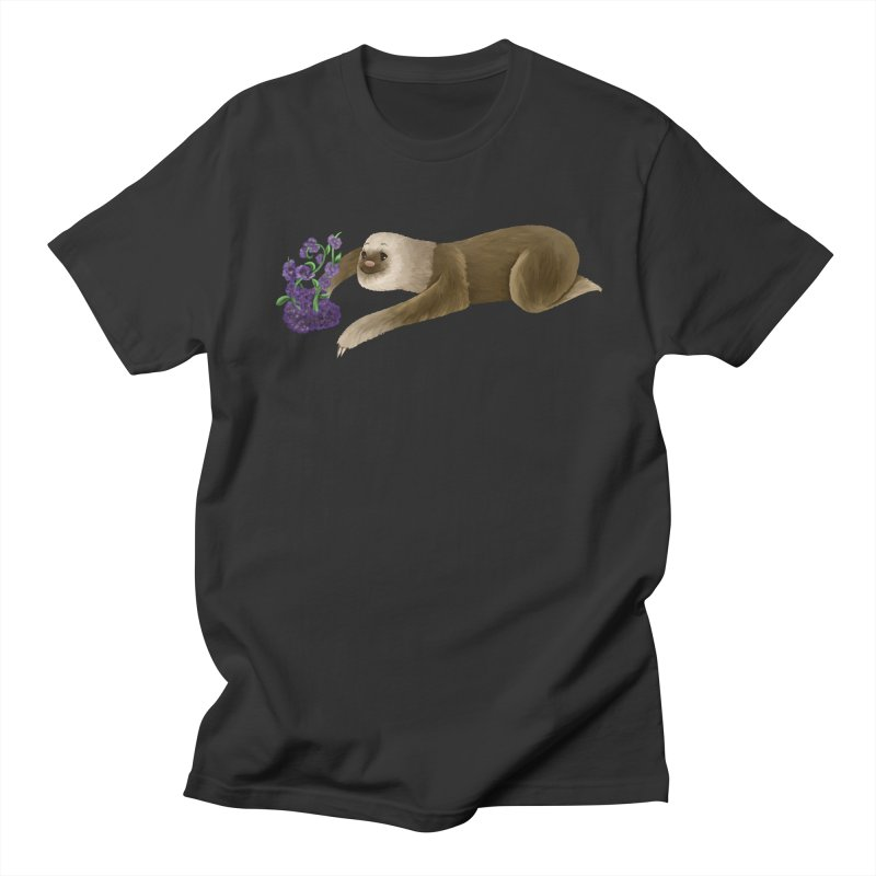 Stop and Smell the Flowers Men's T-shirt by Awezum Art Shop
