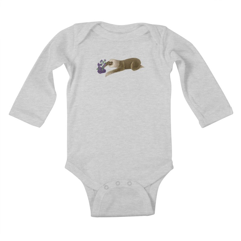 Stop and Smell the Flowers Kids Baby Longsleeve Bodysuit by Awezum Art Shop