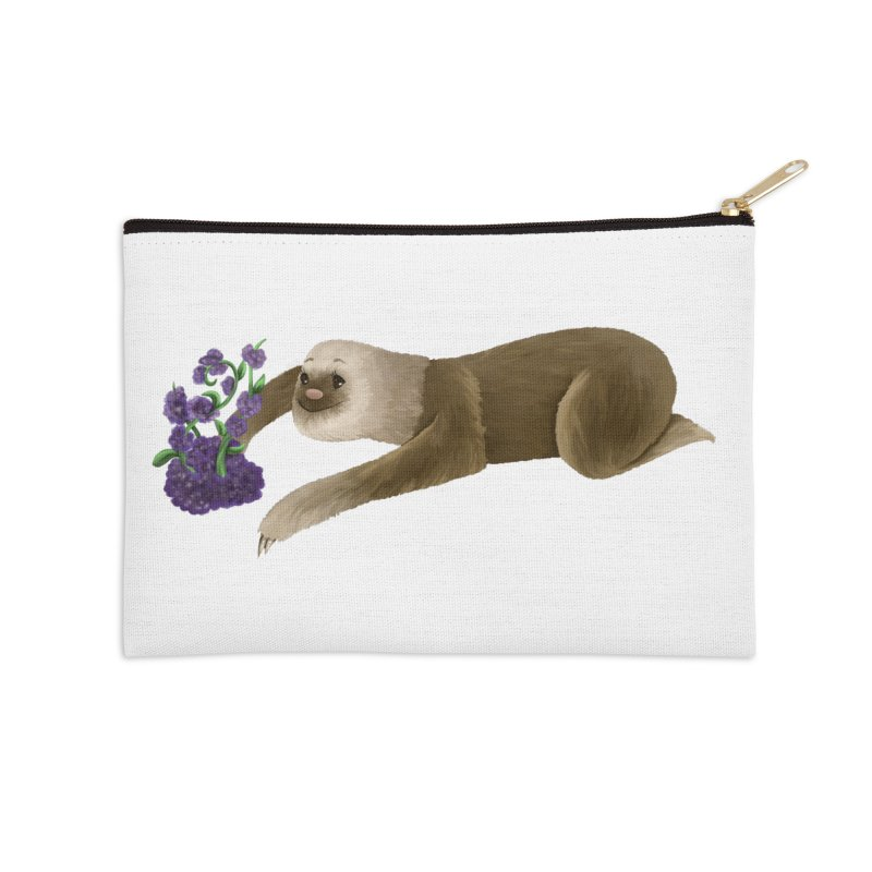 Stop and Smell the Flowers Accessories Zip Pouch by Awezum Art Shop