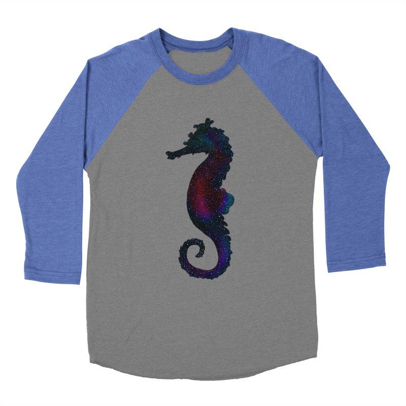 A Seahorse Universe Men's Baseball Triblend T-Shirt by Awezum Art Shop
