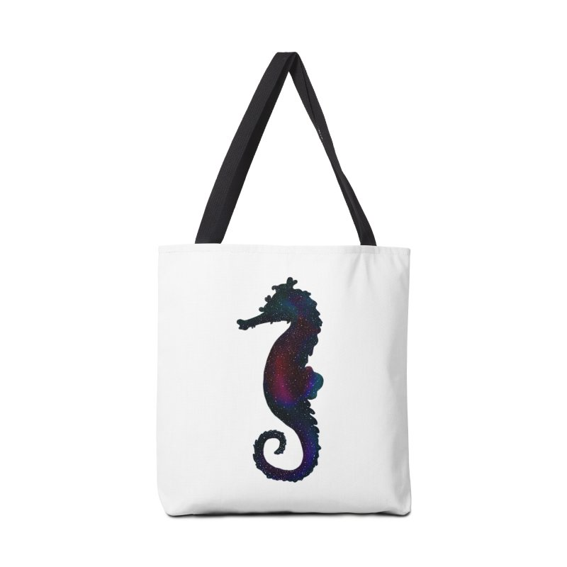 A Seahorse Universe Accessories Bag by Awezum Art Shop