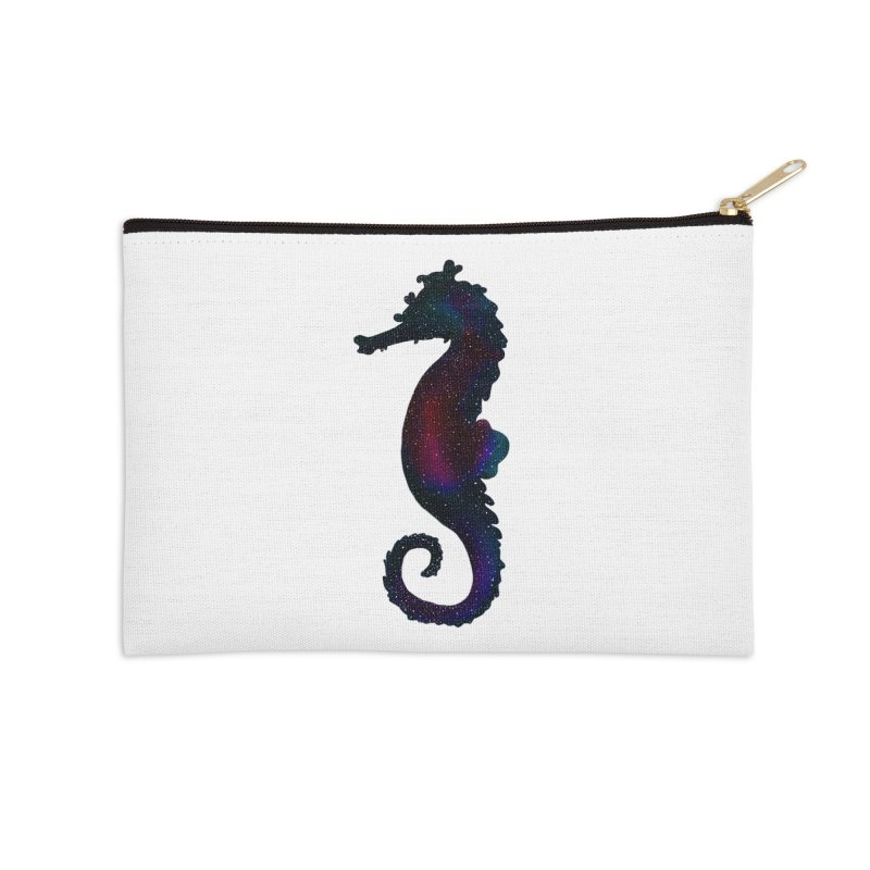 A Seahorse Universe Accessories Zip Pouch by Awezum Art Shop