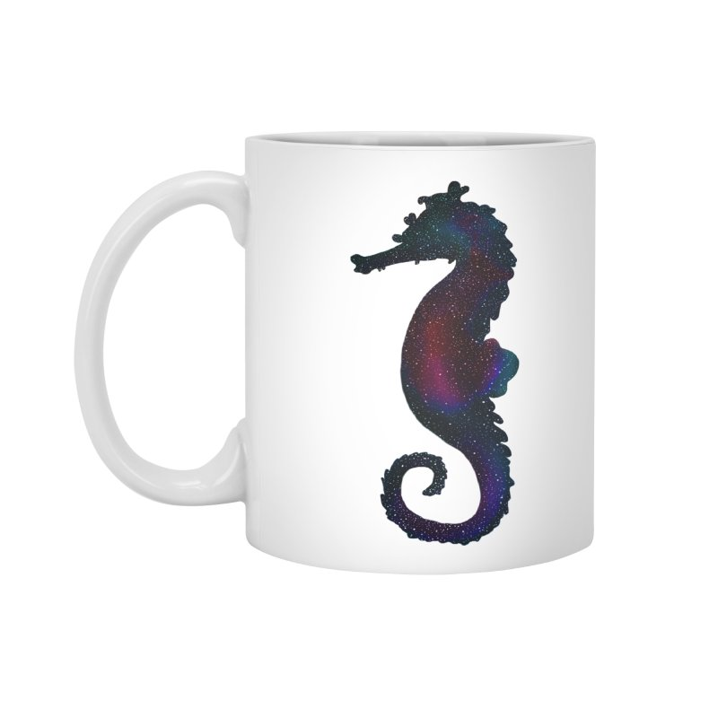 A Seahorse Universe Accessories Mug by Awezum Art Shop