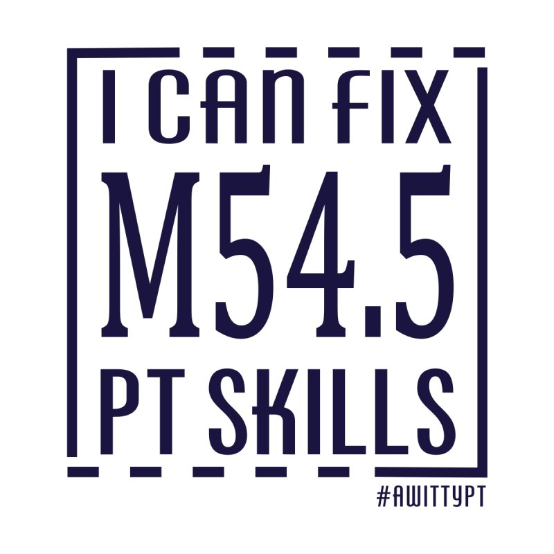 Fix Back Pain PT Skills by A WittyPT's Artist Shop