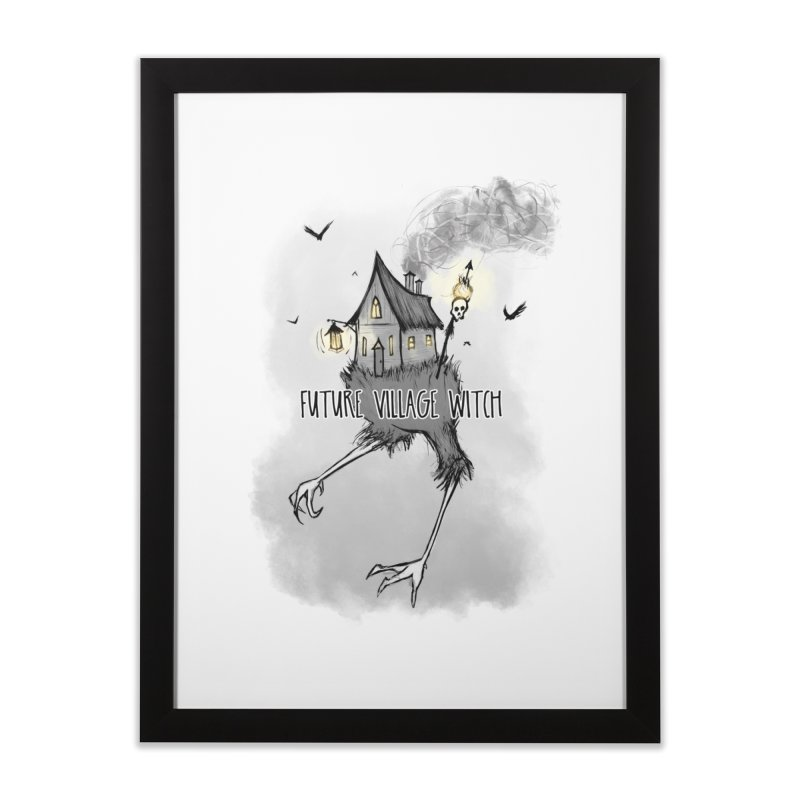Future Village Witch Home Framed Fine Art Print by Awkward Affections's Artist Shop