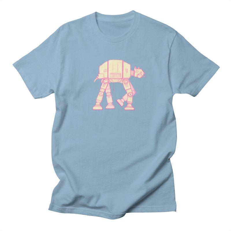 CAT-AT in Men's Regular T-Shirt Light Blue by Awkward Affections's Artist Shop