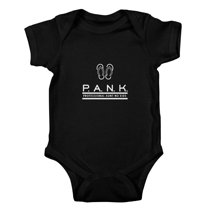 PANK Professional Aunt No Kids Flip Flops Graphic Tee Kids Baby Bodysuit by Awkward Design Co. Artist Shop