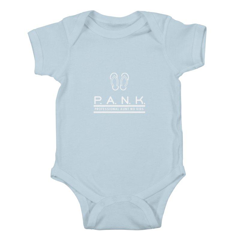 PANK Professional Aunt No Kids Flip Flops Graphic Tee Kids Baby Bodysuit by Awkward Design Co. Artist Shop