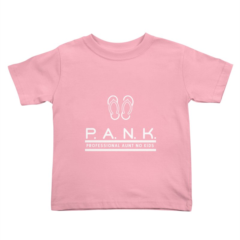 PANK Professional Aunt No Kids Flip Flops Graphic Tee Kids Toddler T-Shirt by Awkward Design Co. Artist Shop