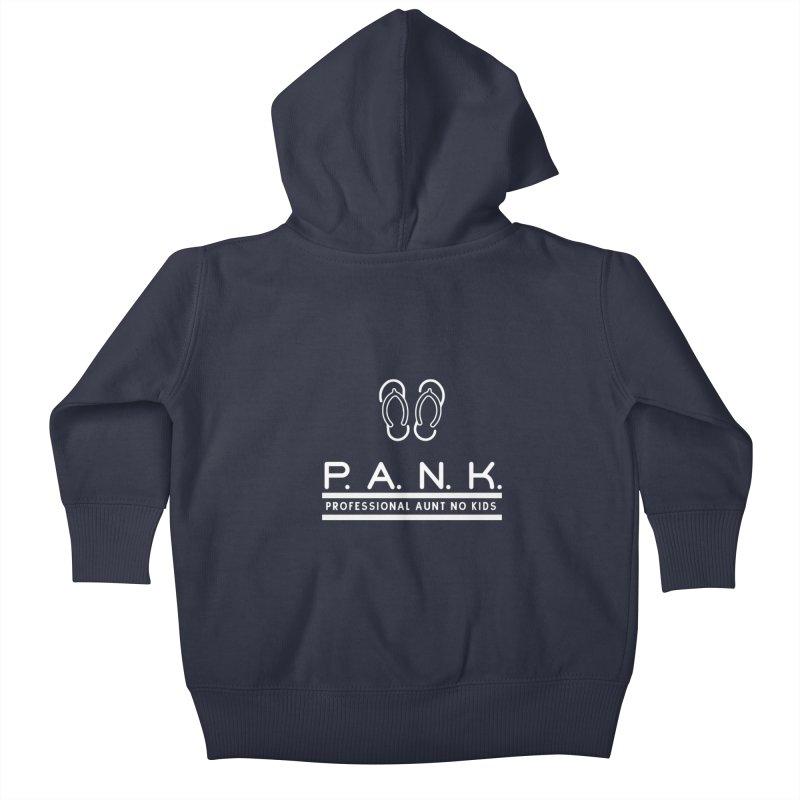 PANK Professional Aunt No Kids Flip Flops Graphic Tee Kids Baby Zip-Up Hoody by Awkward Design Co. Artist Shop