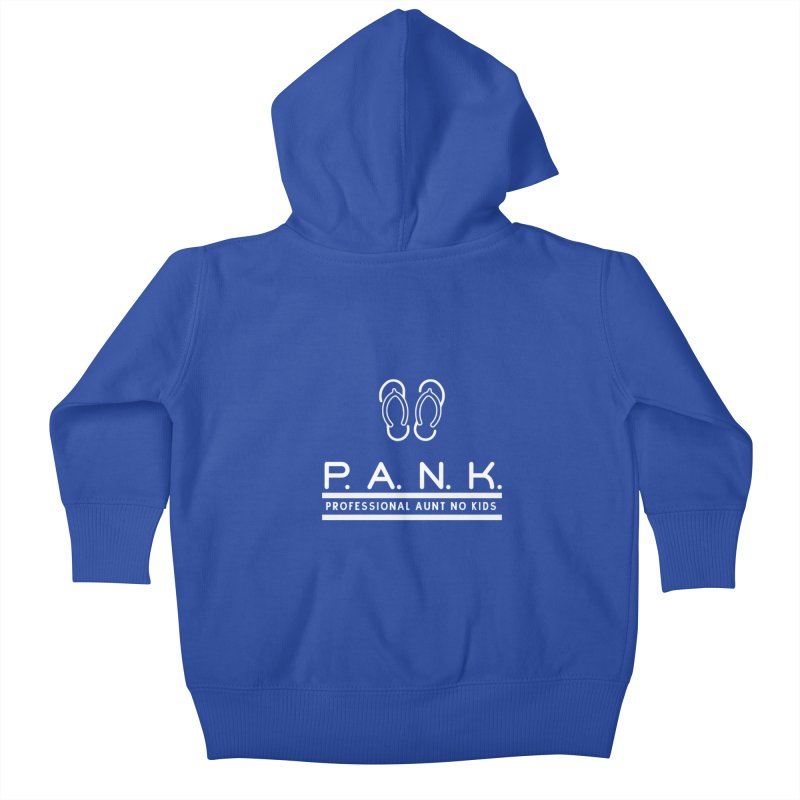 PANK Professional Aunt No Kids Flip Flops Graphic Tee Kids Baby Zip-Up Hoody by Awkward Design Co. Artist Shop