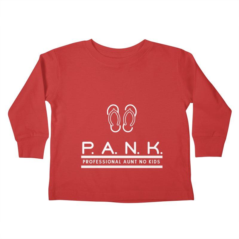 PANK Professional Aunt No Kids Flip Flops Graphic Tee Kids Toddler Longsleeve T-Shirt by Awkward Design Co. Artist Shop