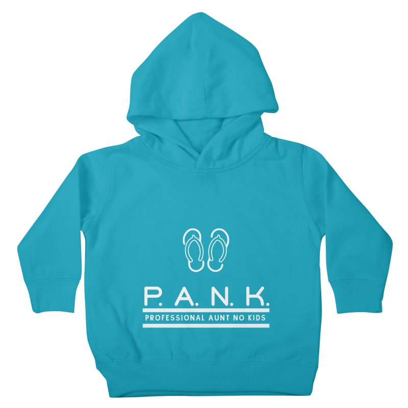 PANK Professional Aunt No Kids Flip Flops Graphic Tee Kids Toddler Pullover Hoody by Awkward Design Co. Artist Shop