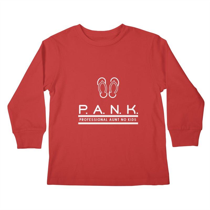 PANK Professional Aunt No Kids Flip Flops Graphic Tee Kids Longsleeve T-Shirt by Awkward Design Co. Artist Shop
