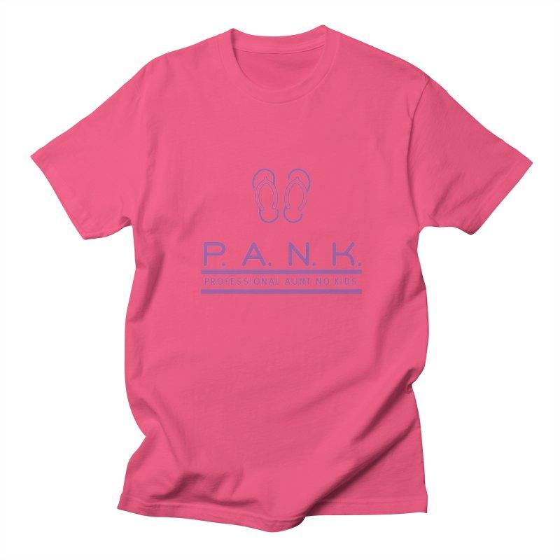 PANK Professional Aunt No Kids Purple Flip Flop Graphic T-Shirt Women's Unisex T-Shirt by Awkward Design Co. Artist Shop
