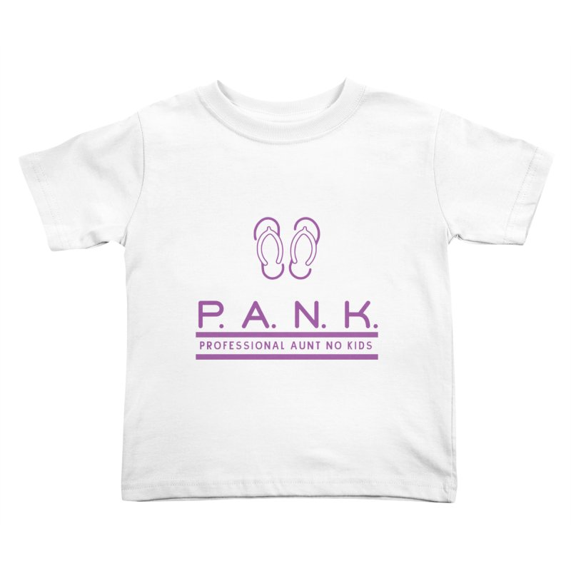 PANK Professional Aunt No Kids Purple Flip Flop Graphic T-Shirt Kids Toddler T-Shirt by Awkward Design Co. Artist Shop