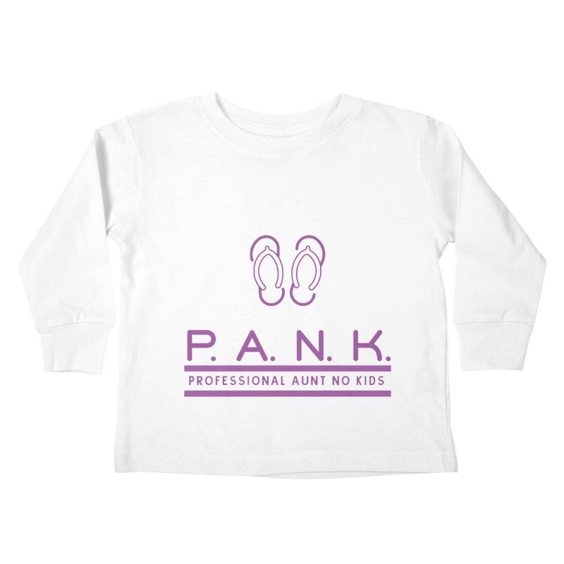 PANK Professional Aunt No Kids Purple Flip Flop Graphic T-Shirt Kids Toddler Longsleeve T-Shirt by Awkward Design Co. Artist Shop