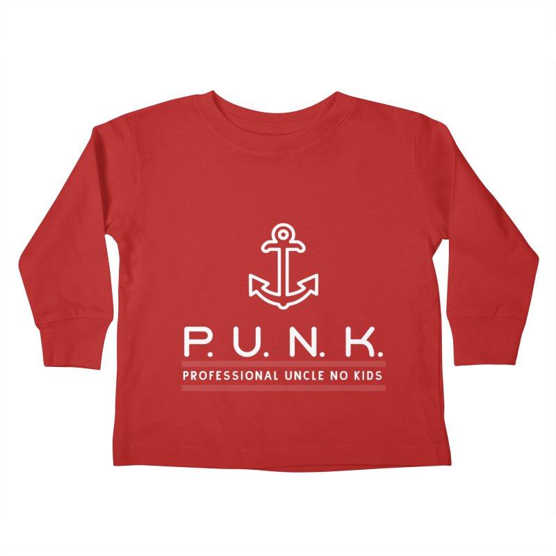 PUNK Professional Uncle No Kids Graphic Shirt Kids Toddler Longsleeve T-Shirt by Awkward Design Co. Artist Shop