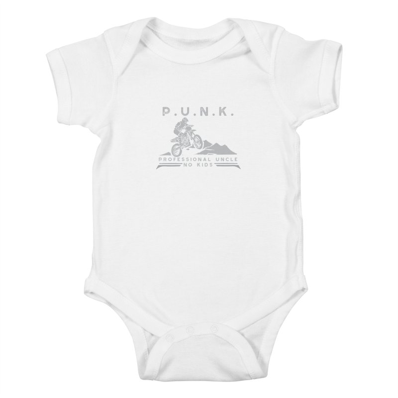 Punk Professional Uncle No Kids Dirtbike Graphic Tee Kids Baby Bodysuit by Awkward Design Co. Artist Shop