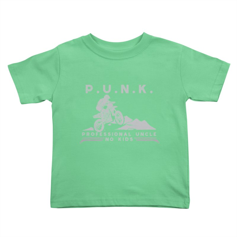 Punk Professional Uncle No Kids Dirtbike Graphic Tee Kids Toddler T-Shirt by Awkward Design Co. Artist Shop